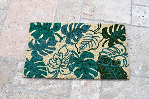 Avera Products Palm Fronds Door Mat, All Natural Coir Fiber with PVC Backing, 17×29 ADB024