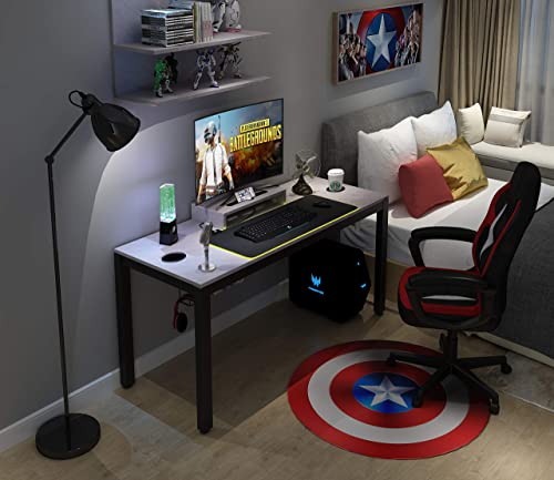 Need Gaming Desk All-in-one Gaming Computer Desk with RGB LED Mouse Pad 60 inches Game Table, Grey AC14PRO-15260-LB