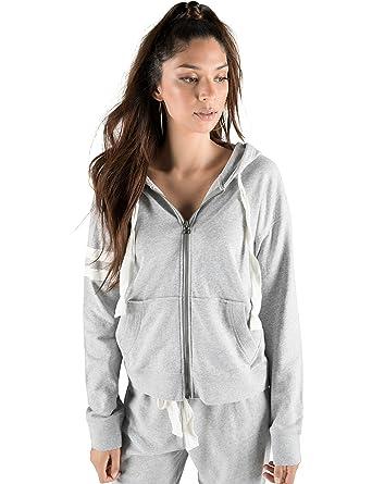 83ba5f5c36 Amazon.com  Rebel Canyon Young Women s Lightweight French Terry Long Sleeve Zip  Up Hoodie Sweatshirt Jacket  Clothing