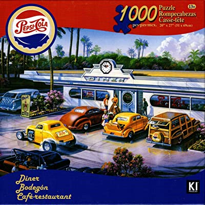 Pepsi-Cola Vintage 1000 Piece Jigsaw Puzzle Diner: Toys & Games