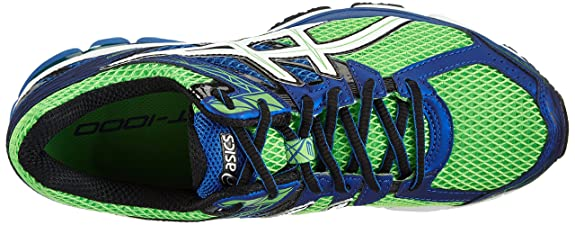 ASICS GT-1000 3 - Zapatillas de deporte para hombre, Color Verde (Neon Green / White / Blue 7001), Talla 46 EU (10.5 UK): Amazon.es: Zapatos y complementos