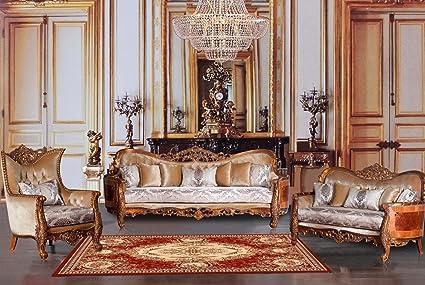 European Furniture 3 Pieces Maggiolini Luxury Sofa Set - Amazon.com: European Furniture 3 Pieces Maggiolini Luxury Sofa Set