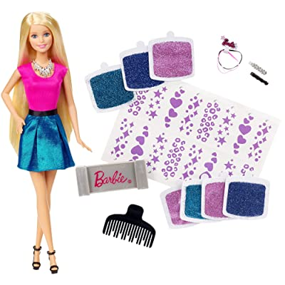 Barbie Glitter Hair Design Doll: Toys & Games