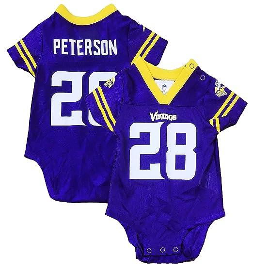 ... new style outerstuff adrian peterson minnesota vikings 28 purple  newborn infants home creeper player jersey 6 fe284a7a4