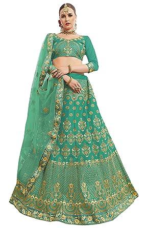 ebc2a1b995e maroosh Women S Silk Embroidered Lehenga Choli In Sea Green Color ...