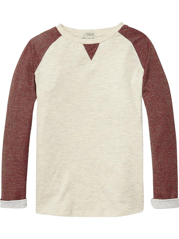 Scotch /& Soda Mädchen Sweatshirt Long Sleeve Bonded Glitter Jersey ...