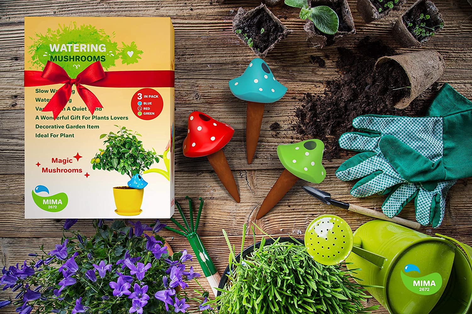 Outdoor Garden 3 Self Watering System Spikes Automatic Plant Waterer Irrigation Drippers Hanging Pots Plant Watering Wands Keep Indoor Plants Self Watering Planter Mushroom Terracotta Watering Globes Mimbarschool Com Ng