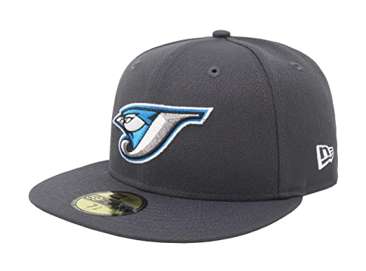 04e20531baf New Era 59Fifty Hat Toronto Blue Jays Game Bird MLB Charcoal Baseball Cap  (6 7