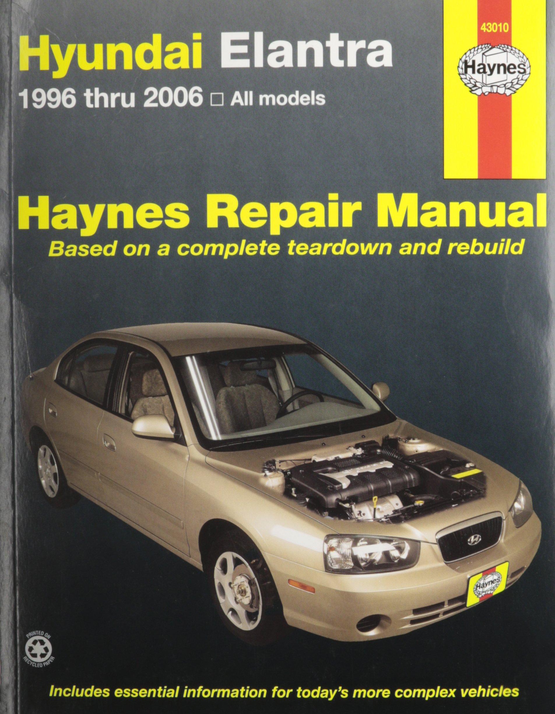 Haynes Hyundai Elantra 96 10 Repair Manual 0038345430107 99 Wiring Diagram Books
