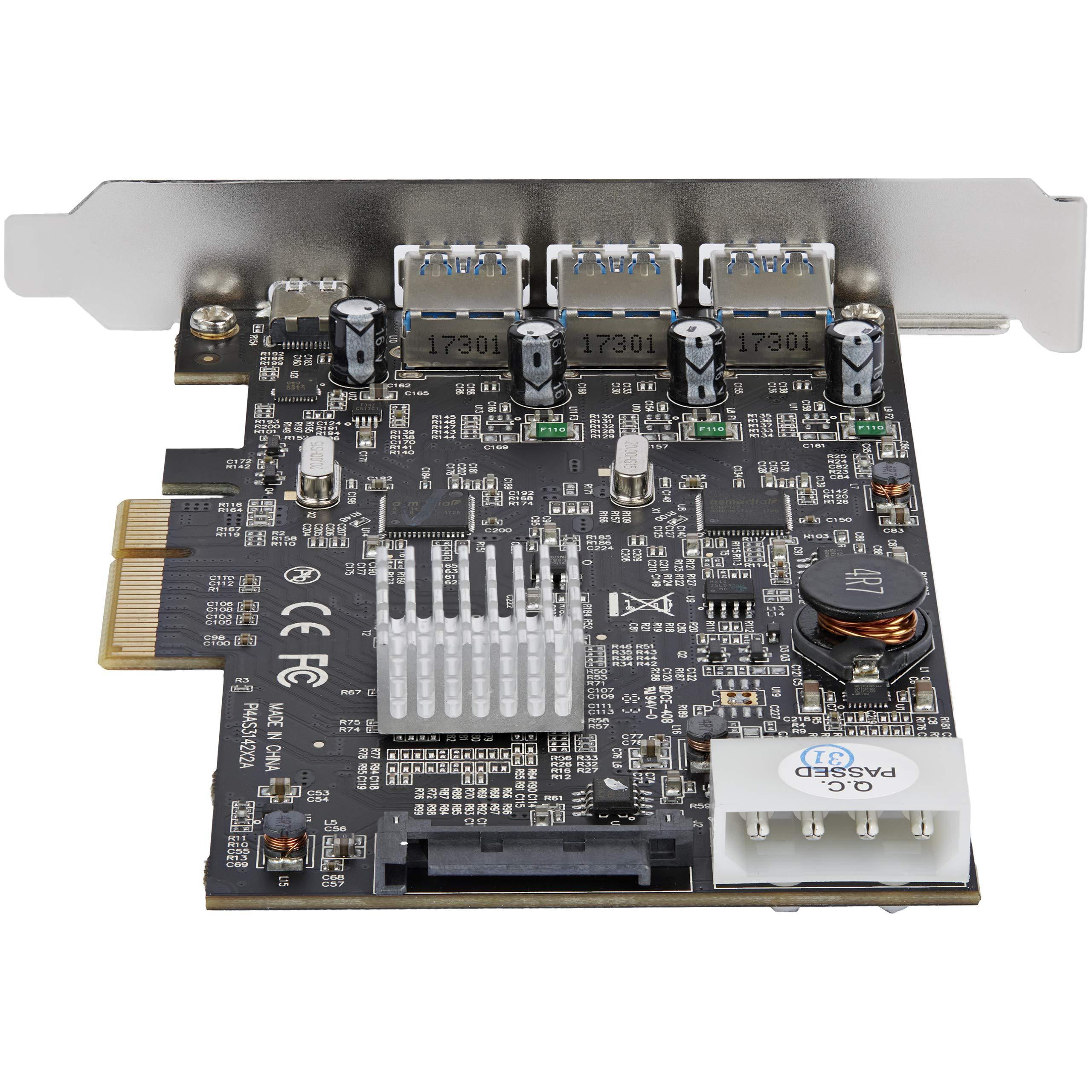 StarTech.com USB 3.1 PCIe Card - 3X USB-A and 1x USB-C - 2X Dedicated Channels - USB C PCIe Card - USB 3.1 Controller Card (PEXUS313AC2V) by StarTech (Image #3)