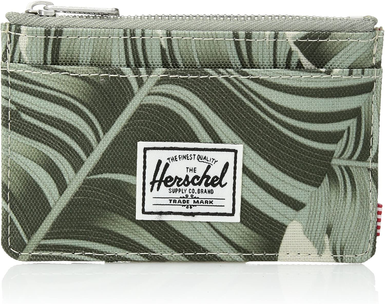 Herschel Supply Oscar RFID Wallet Cartera con Cremallera, Palma de Abedul de Plata, Talla única Unisex Adulto
