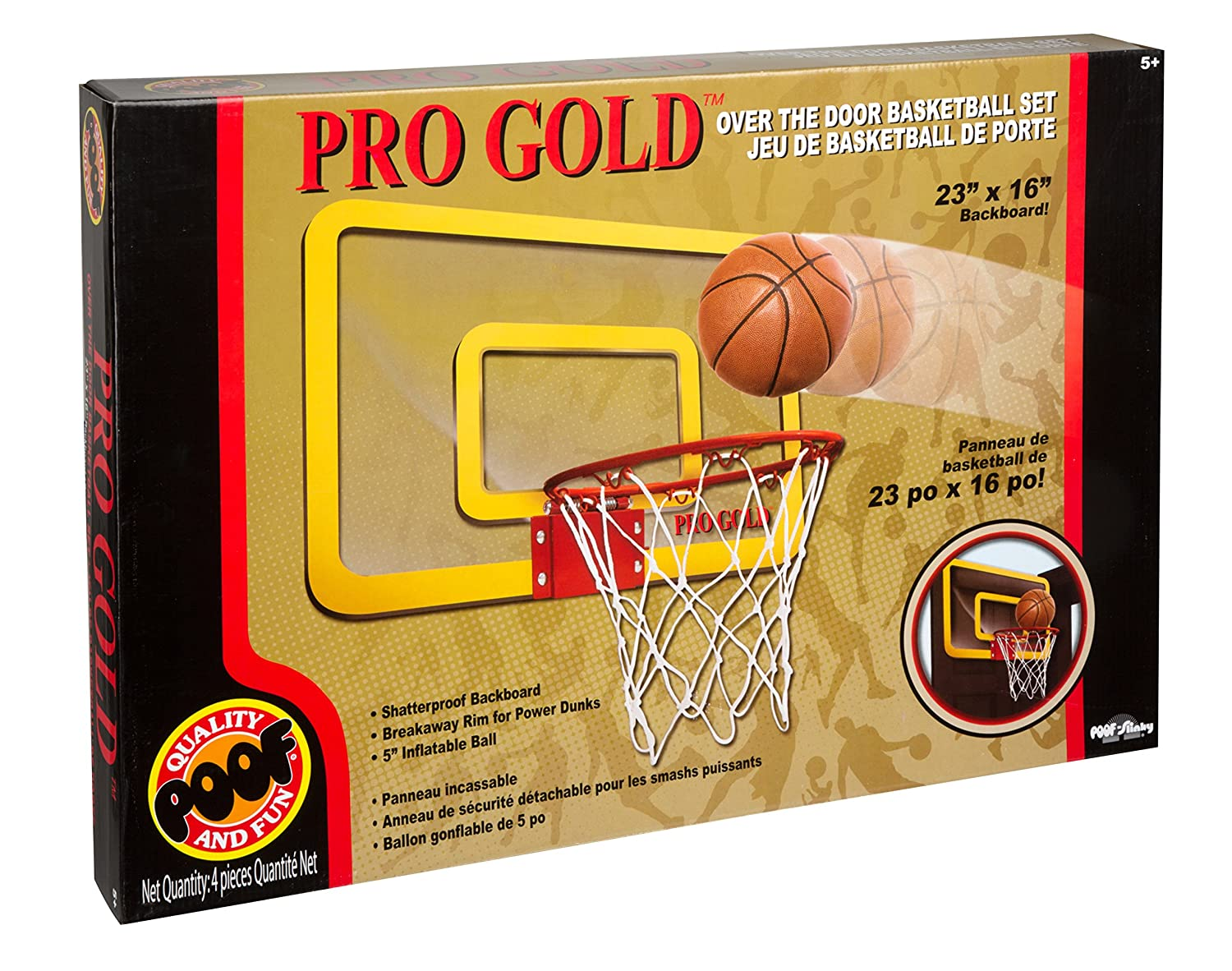 c702cc0dfd6 Amazon.com  POOF Pro Gold Large Basketball Hoop  Toys   Games