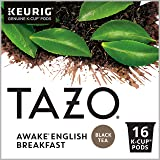 Tazo Awake English Breakfast K-Cup Pods For a Bold Traditional Breakfast-Style K-Cup Tea Black Tea Caffeinated Morning…