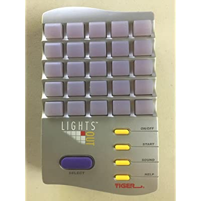 Tiger Lights Out Handheld Game: Toys & Games