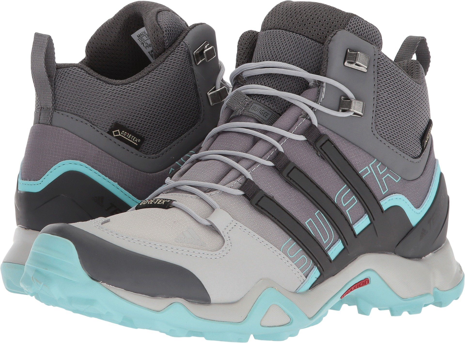 adidas Terrex Swift R Mid GTX Boot Women's Hiking 11 Grey-Utility Black-Clear Aqua by adidas (Image #1)