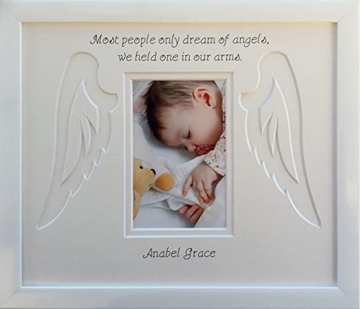 Amazon.com: Personalised Baby Infant Child Angel Wings Memorial ...