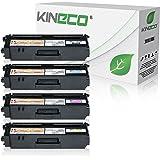 Kineco 4 Toner kompatibel für Brother TN-325 für Brother DCP-9055CDN, DCP-9270, HL-4140, HL-4150, HL-4570, MFC-9460CDW, MFC-9970, MFC-9560 - Schwarz 4.000 Seiten, Color je 3.500 Seiten