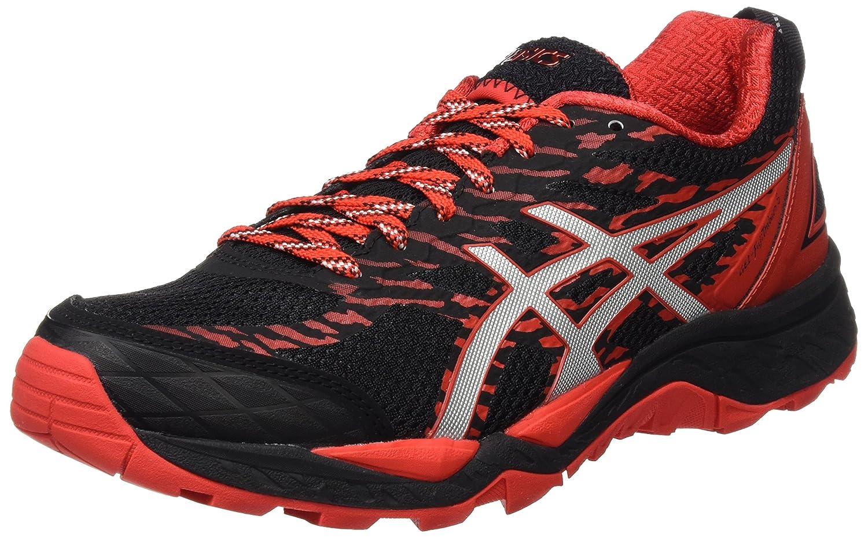 Asics Gel-Fujitrabuco 5, Zapatillas de Trail Running para Hombre 45 EU|Varios Colores (Black / Vermilion / Silver)
