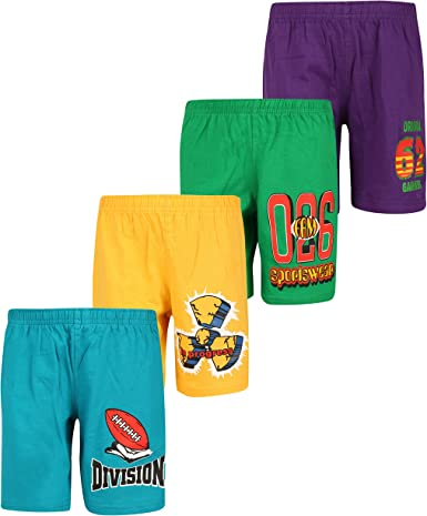 dongli Boys Printed Shorts (Pack of 4) Boys' Shorts at amazon