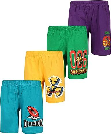 dongli Boys Printed Shorts (Pack of 4) Boys' Shorts at amazon