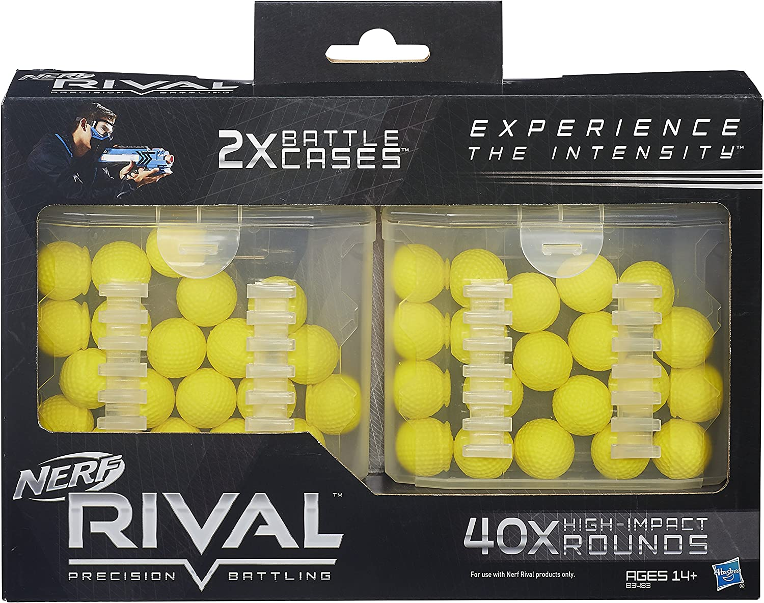 NERF Rival 40 Bullets 20-Round REFILL Cases FOR Zeus MXV1200 /& Apollo XV-700
