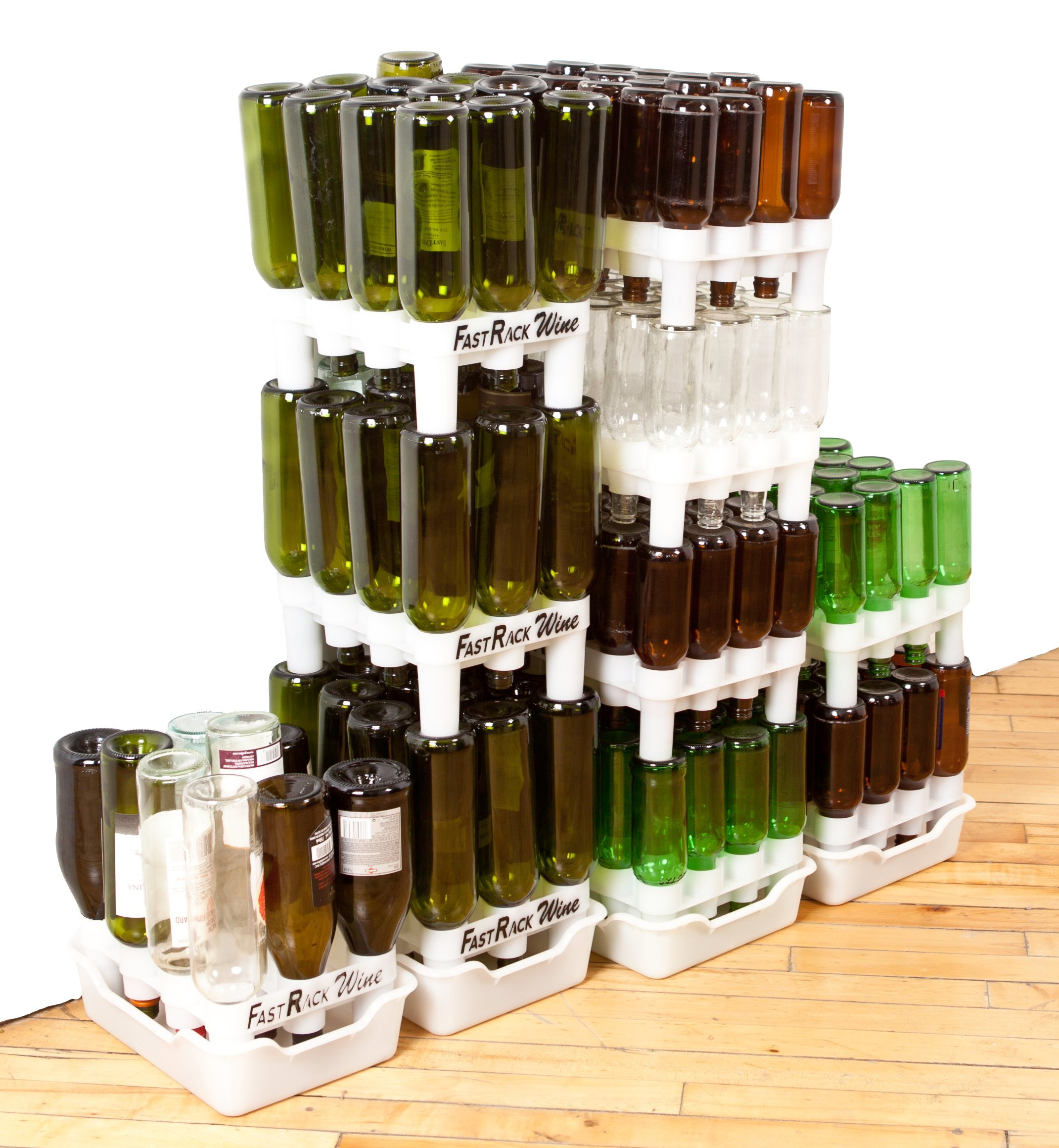 FastRack Bottle Drying Rack & Tray Kit - Bottle Drying Tree alternative; Dry or Store your Beer, Wine or Bomber/Belgian Bottles; Add to your Home Brewing Supplies by Fastrack (Image #12)