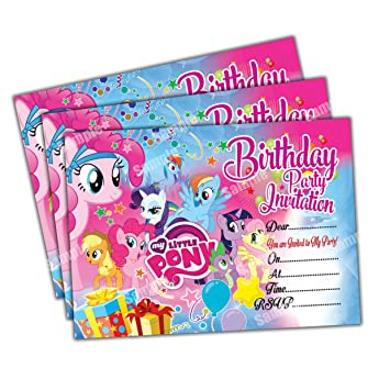 Invitations 20 x my little pony kids birthday party invites cards invitations 20 x my little pony kids birthday party invites cards quality girls filmwisefo