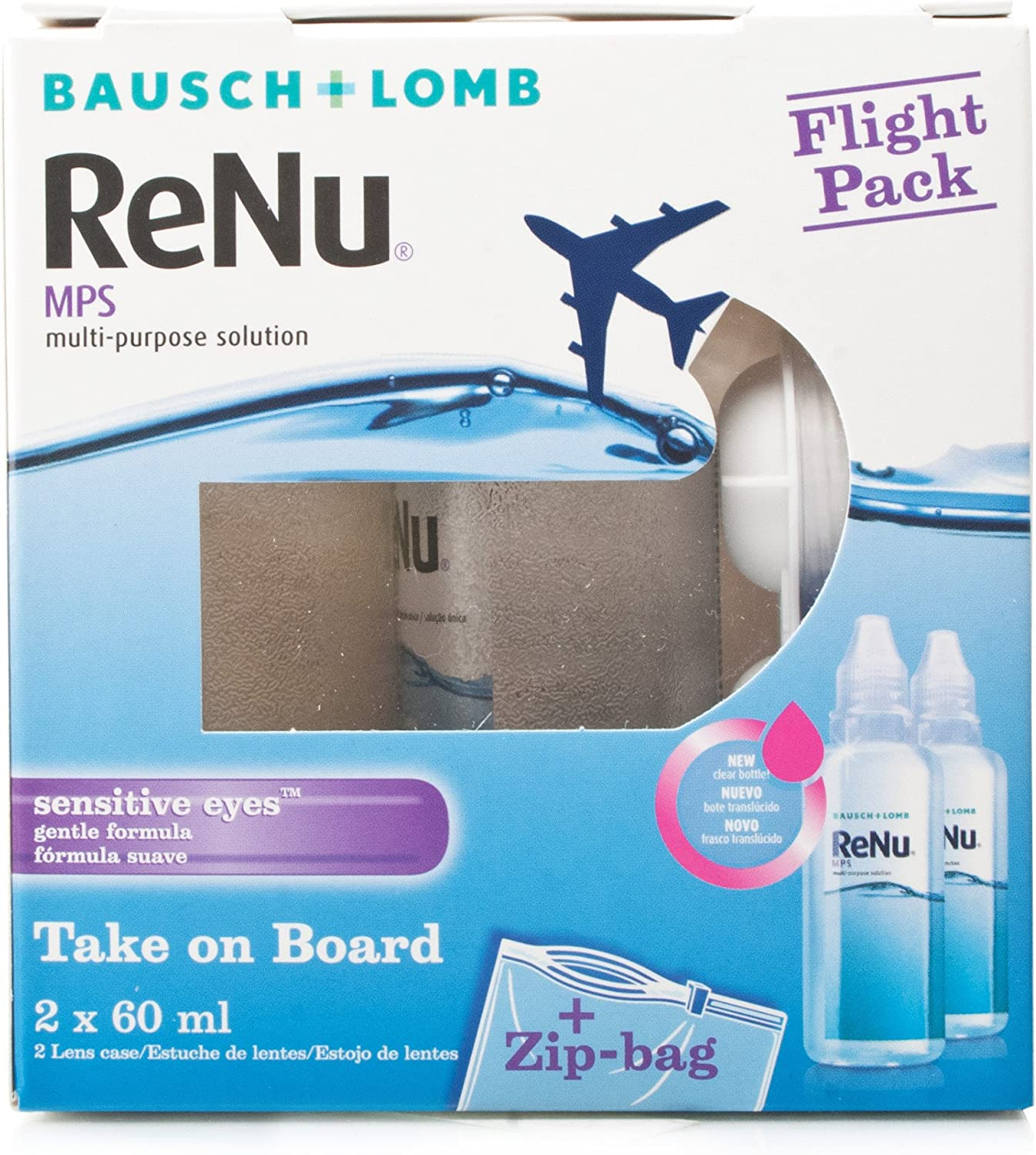 Bausch Lomb Renu Mps Multi Purpose Contact Lens Solution Flight Pack Amazon Co Uk Health Personal Care