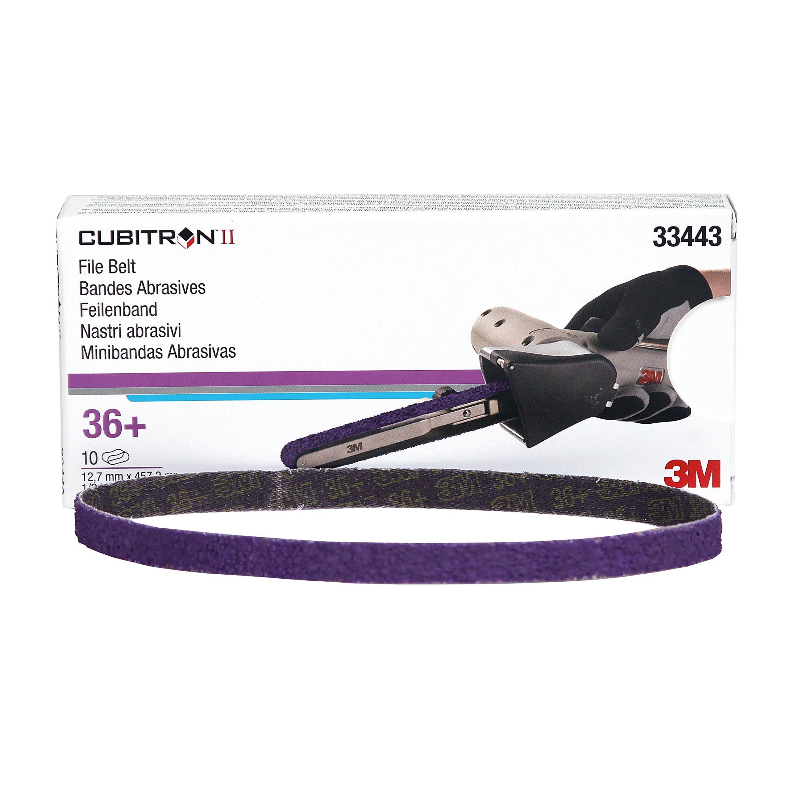 Cubitron 3M 33443 II 1/2'' x 18'' File Belt - 10 Belts/Box by Cubitron (Image #1)