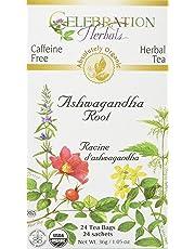 Celebration Herbals Ashwagandha Root Organic 24 Tea Bag, 36Gm