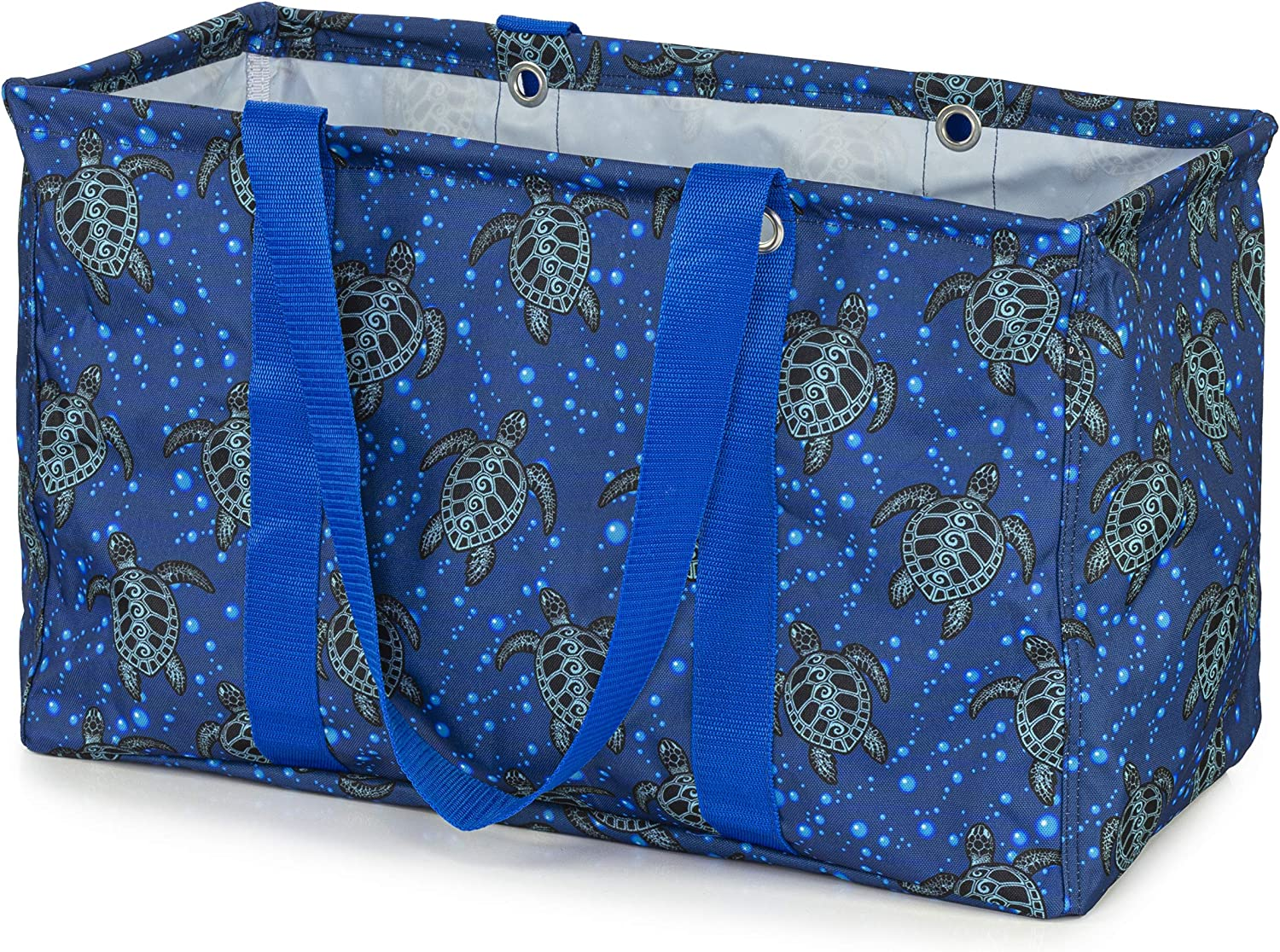VP Home Jumbo Open Top Tote Bag (Tribal Sea Turtles)