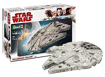 Revell- Maqueta Star Wars Millennium Falcon con Kit Modelo, 1:72 Scale (6718)