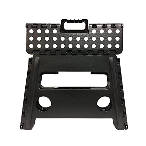 Amazing Core Pacific 302201 Black 12 Inch Folding Plastic Step Stool Machost Co Dining Chair Design Ideas Machostcouk