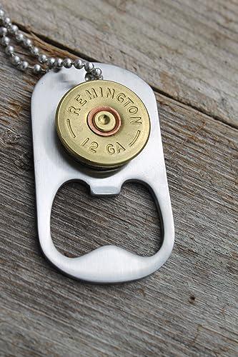 Amazon com: 12 Gauge Rustic Brass Remington Shot Gun Dog Tag Style