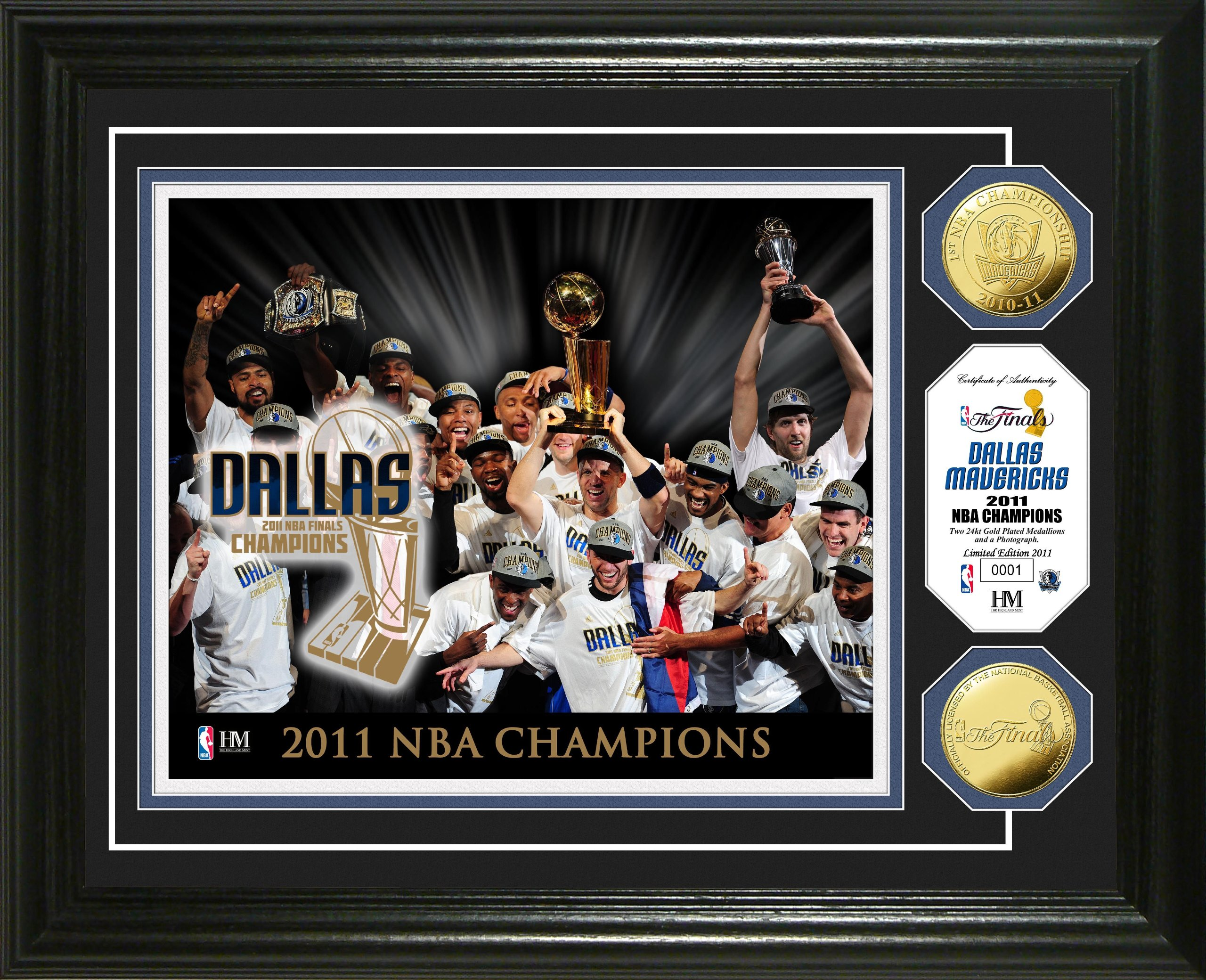 NBA 2011 Champions Celebration 24KT Gold Coin Photo Mint