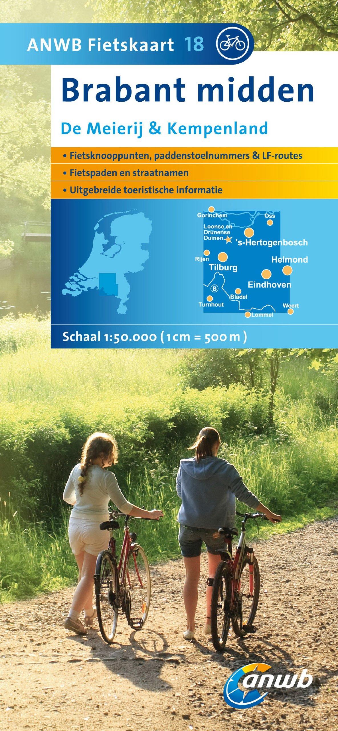 Fietskaart 18 Brabant midden (ANWB fietskaart (18))