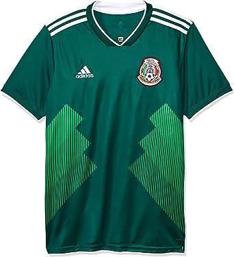 rigidez Chispa  chispear audición  Amazon.com : adidas 2018-2019 Mexico Home Football Soccer T-Shirt Jersey :  Clothing