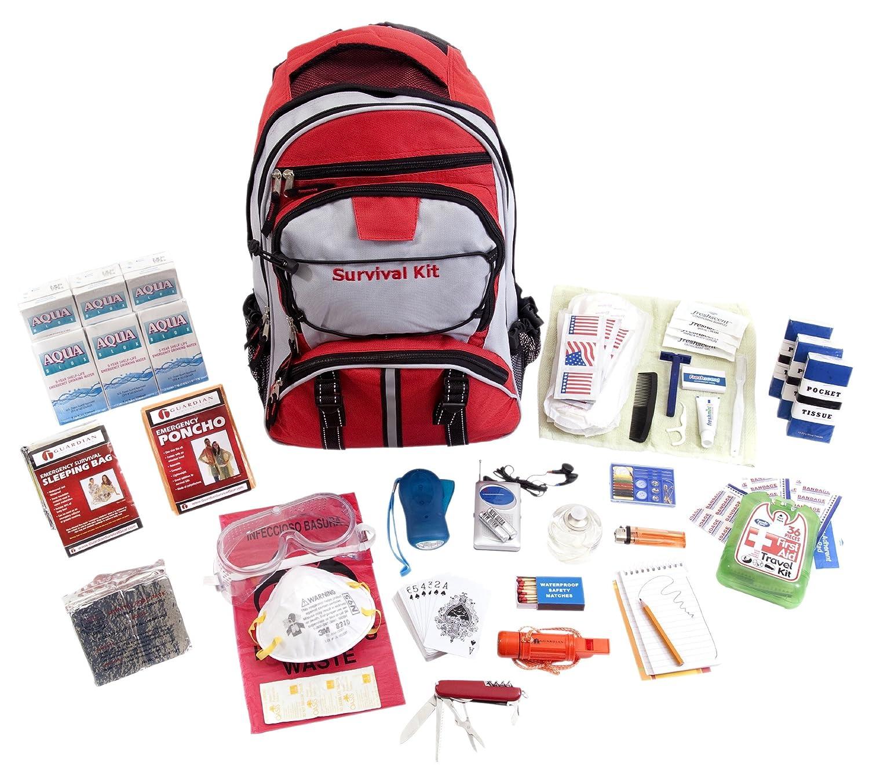 ガーディアンサバイバルギアHiker 'sデラックス緊急キット 1 1 Person Red Red Backpack Backpack B005NCLWM0, 石井町:8ce57b26 --- dqfansurvey.online