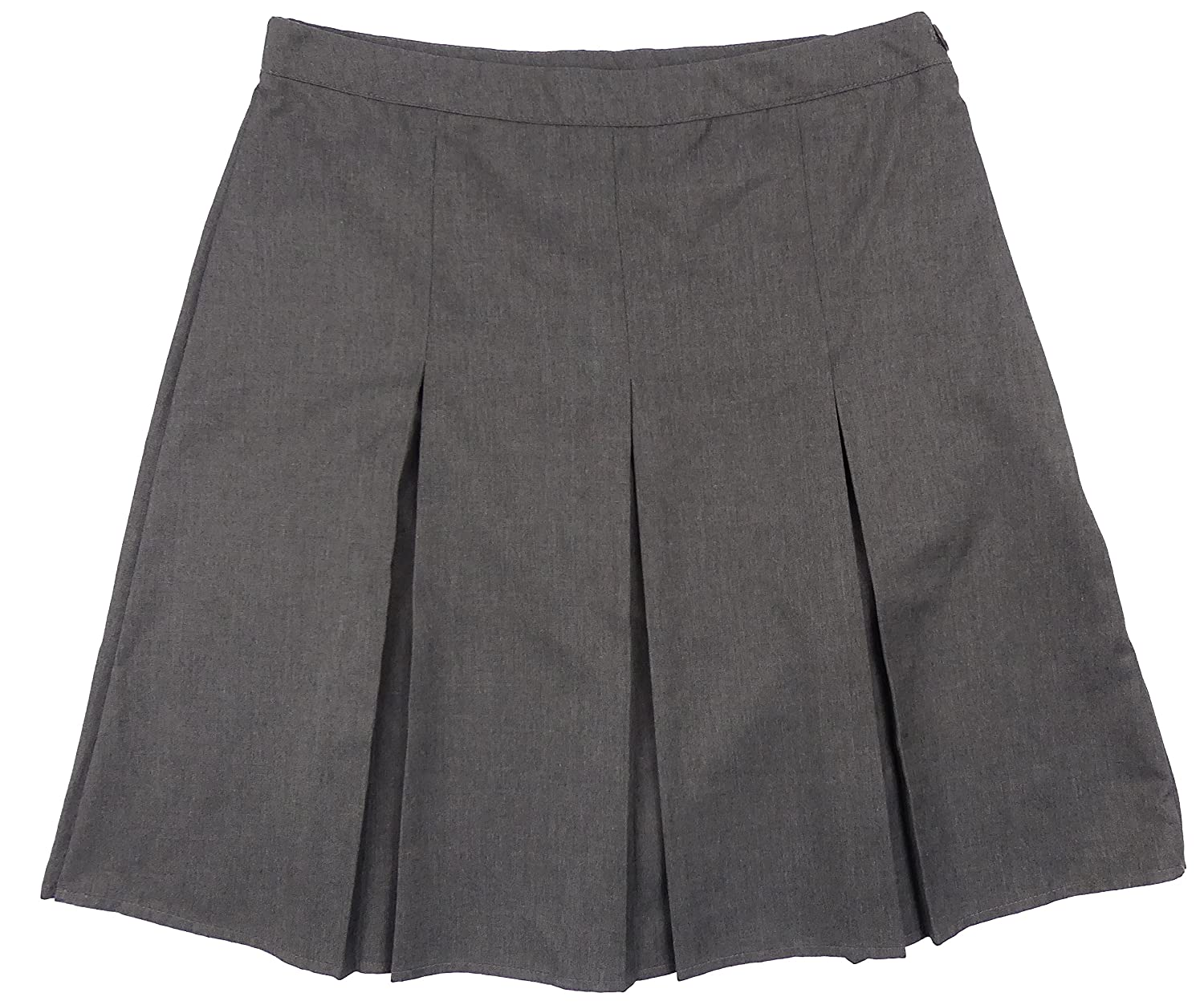 Exstore Sold By The Pyjama Party Girls Grey School Skirt with Adjusatbel Waist