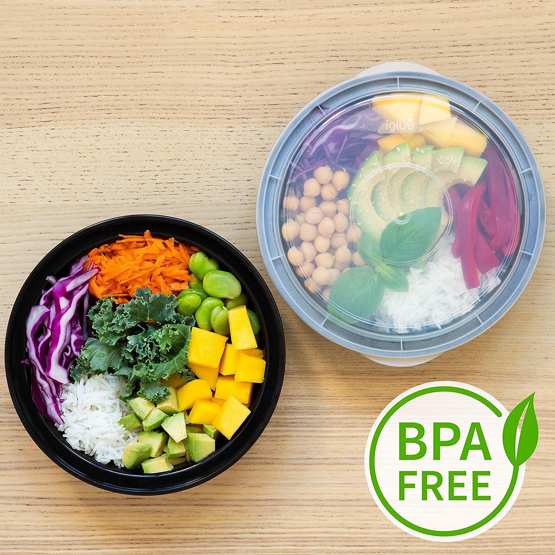 BPA Frei 10er Pack Luftdichter Deckelverschluss Runde Meal Prep Container Von Igluu Lunchbox Mikrowellengeeignet - Essensbox Sp/ülmaschinenfest Und Wiederverwendbar Kostenfreies eBook