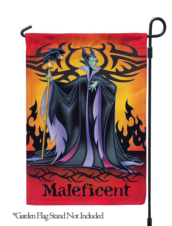 "Flagology.com, Disney, Maleficent, Maleficent – Garden Flag – 12.5"" x 18"", Disney Villains, Outdoor, Exclusive Premium Fabric, Halloween,Officially Licensed Disney"