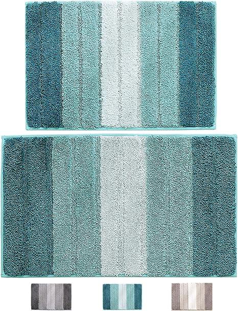 50x80cm Teal Microfibre Bathroom Rug Bath Mat Bath Mat Bath Mat
