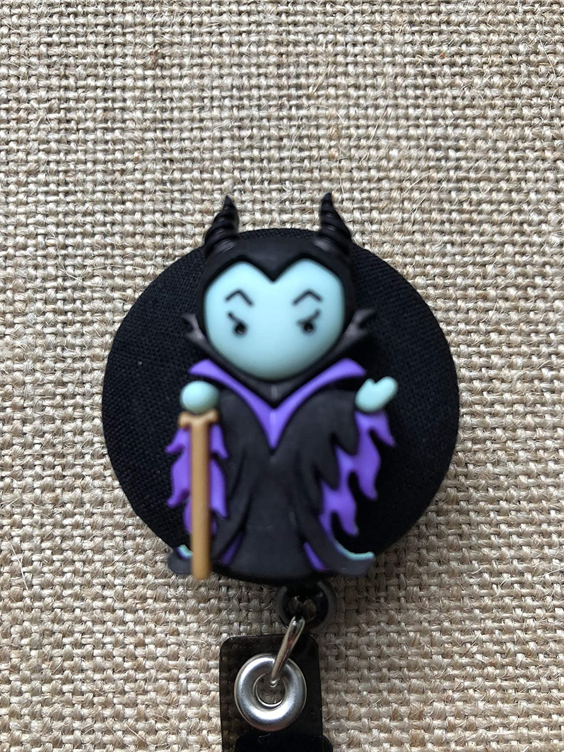 Disney Villain Badge Reel Retractable ID Holder