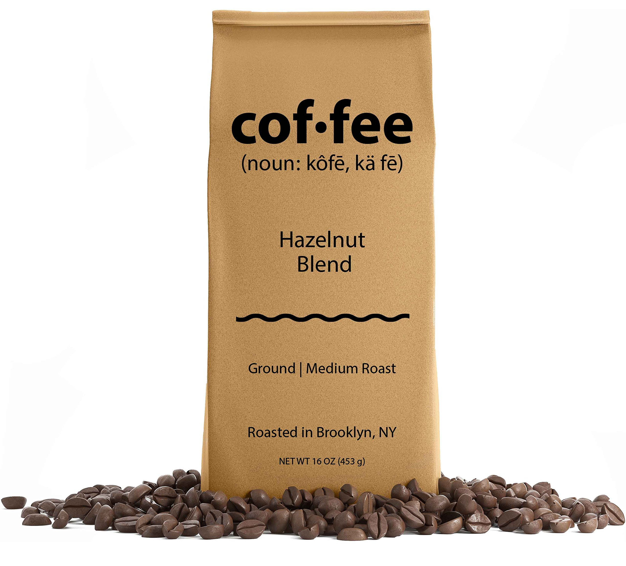 Hazelnut Blend Ground Coffee, Medium Roast, 1-Pound Bag