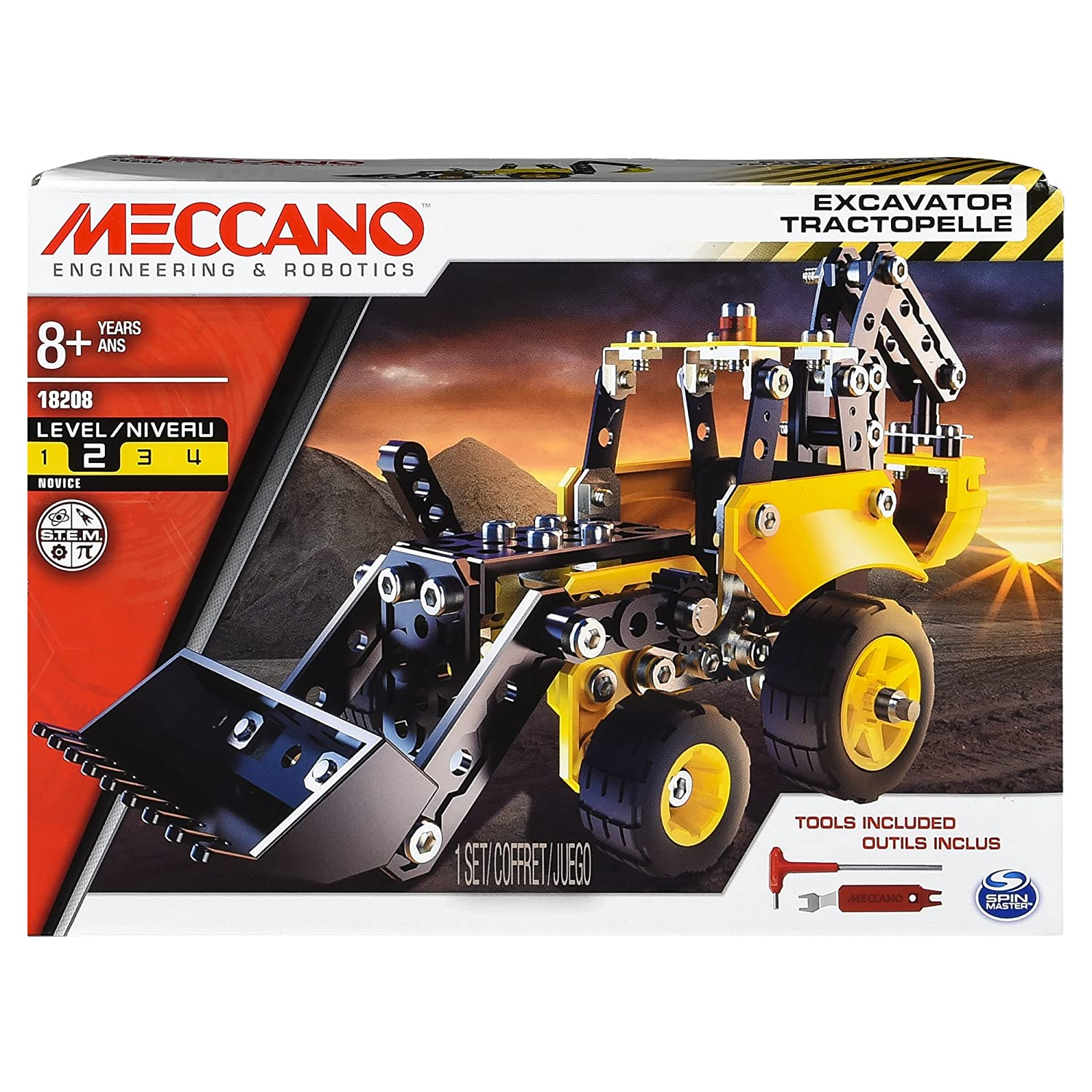 Erector by Meccano Excavator Truck Model Vehicle Building Kit for Ages 8 and up STEM Construction Education Toy