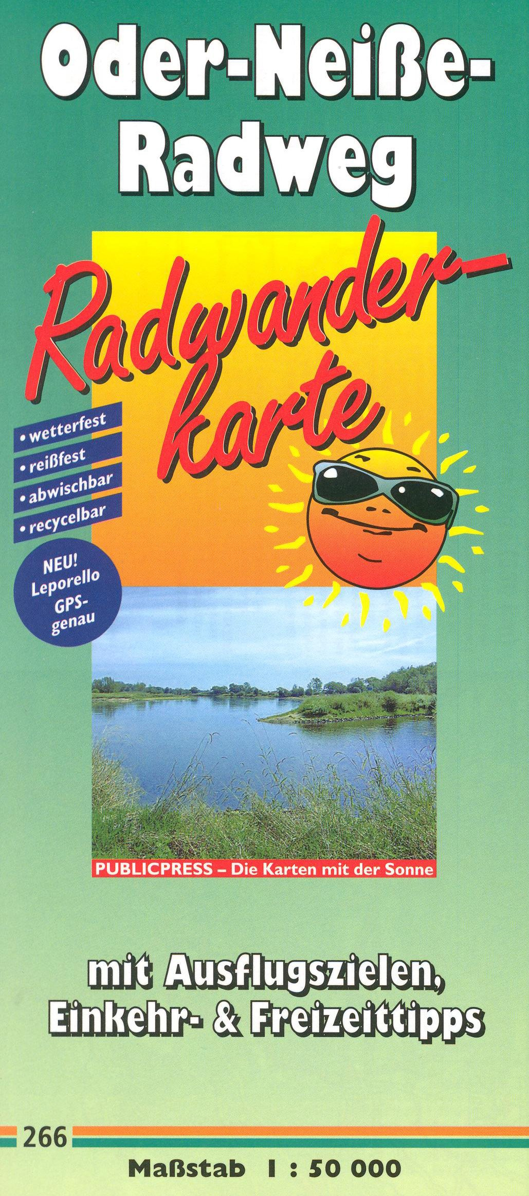Read Online Oder - Neisse River (Germany / Poland) Cycling Path 1:50,000 Map, laminated, GPS-compatible PUBLICPRESS pdf