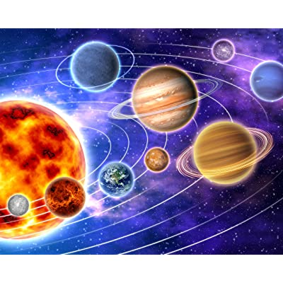 """CVPuzzles Solar System Planets & Orbits 504 Piece Jigsaw Puzzle 16"""" X 20"""": Toys & Games"""