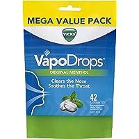 Vicks VapoDrops Original Menthol Lozenges, 42 count