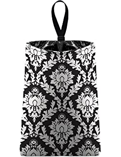The Mod Mobile Auto Trash by car trash bag litter bag garbage can for your automobile Black Damask