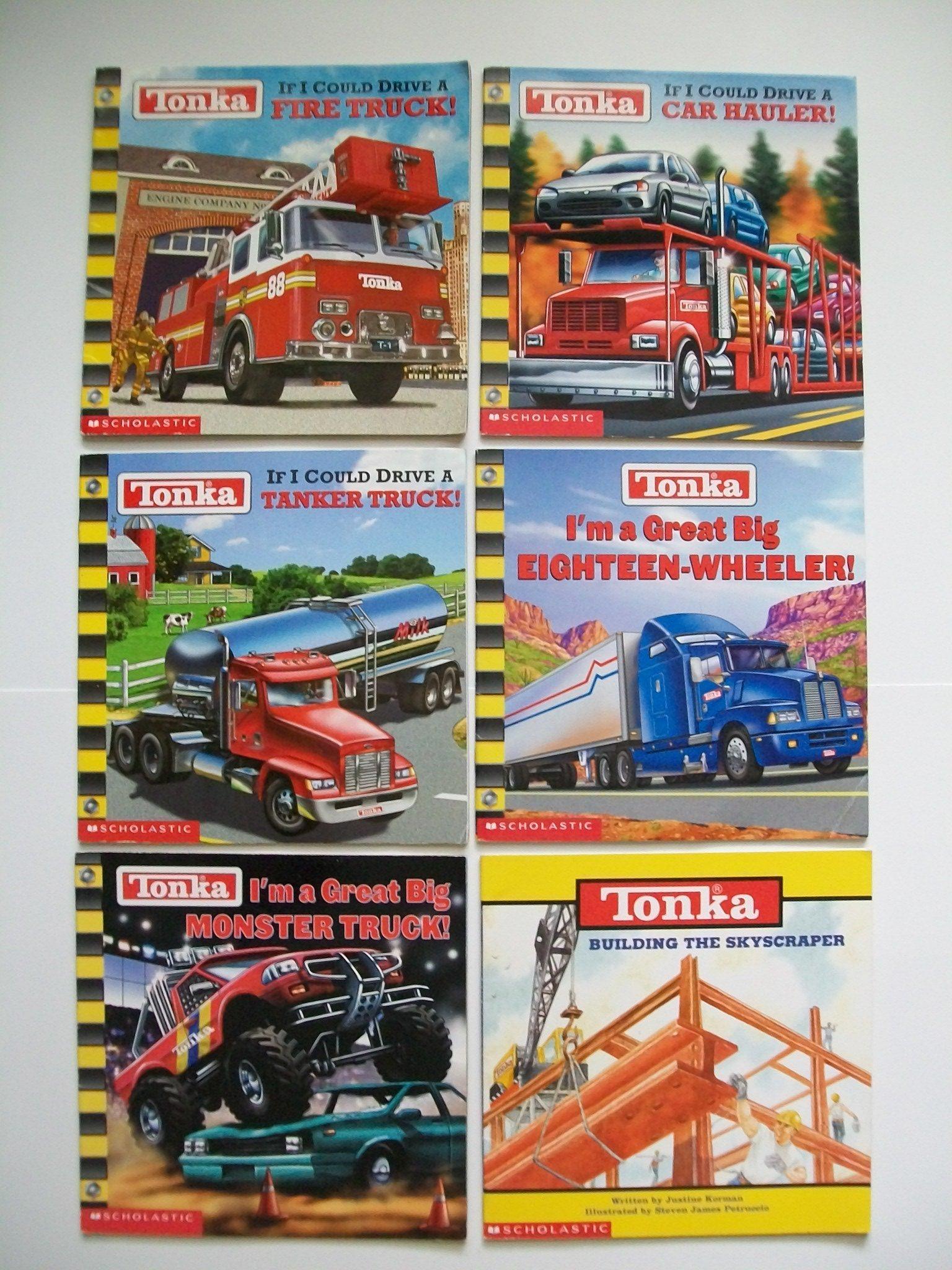 Tonka Trucks (Set of 6) Fire Truck; Car Hauler; Tanker Truck; 18-Wheeler;  Monster Truck: Michael Teitelbaum, Michael Anthony Steele: Amazon.com: Books